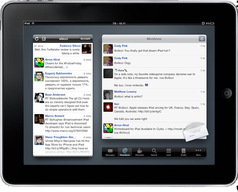 Twittelator for iPad: Best Twitter App Yet? - MacStories